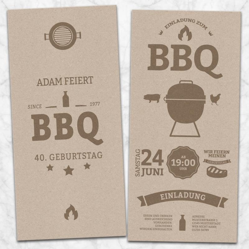 Einladungskarte BBQ GrillParty