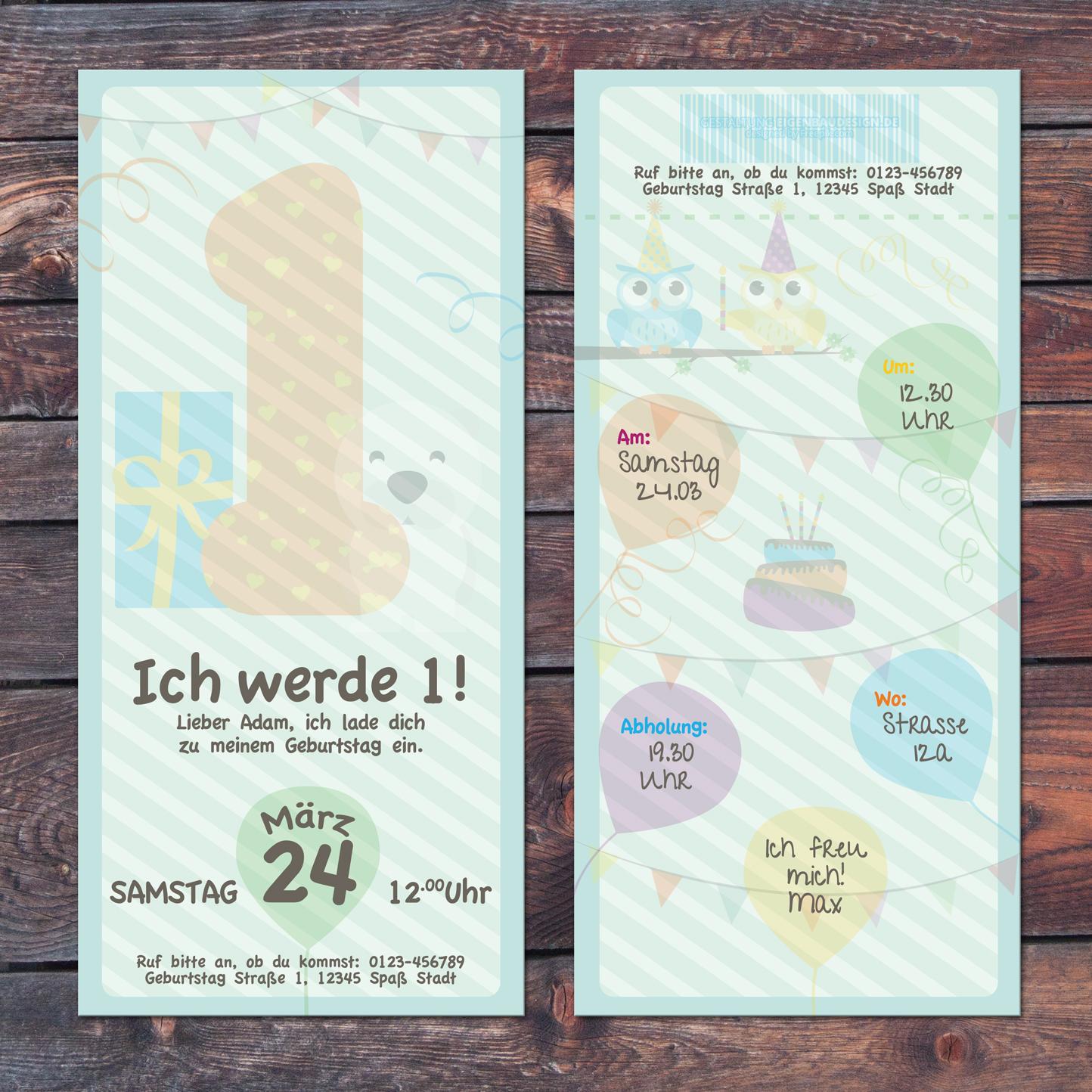 Einladungskarten Kindergeburtstag Einladungskarten: Einladungskarte Kindergeburtstag Mit Jahreszahl