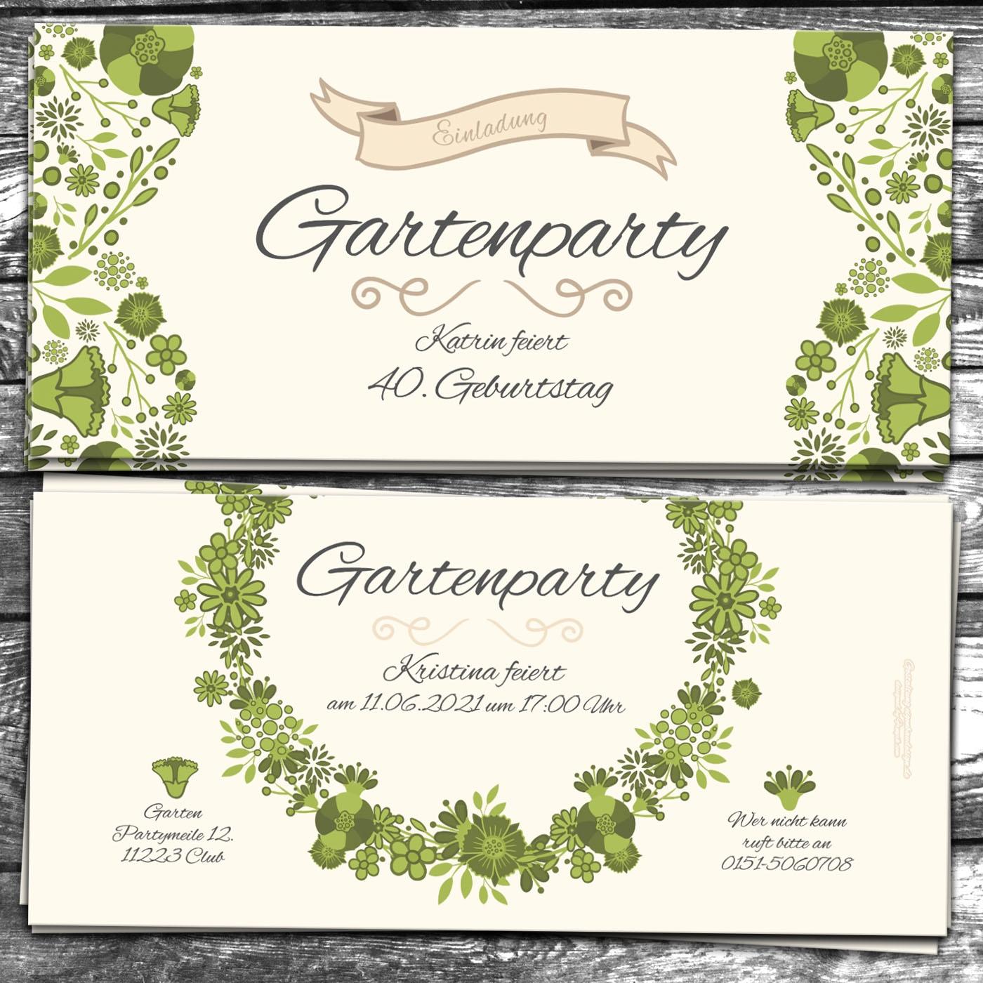 einladungskarte gartenparty - eigenbaudesign manufaktur, Garten ideen