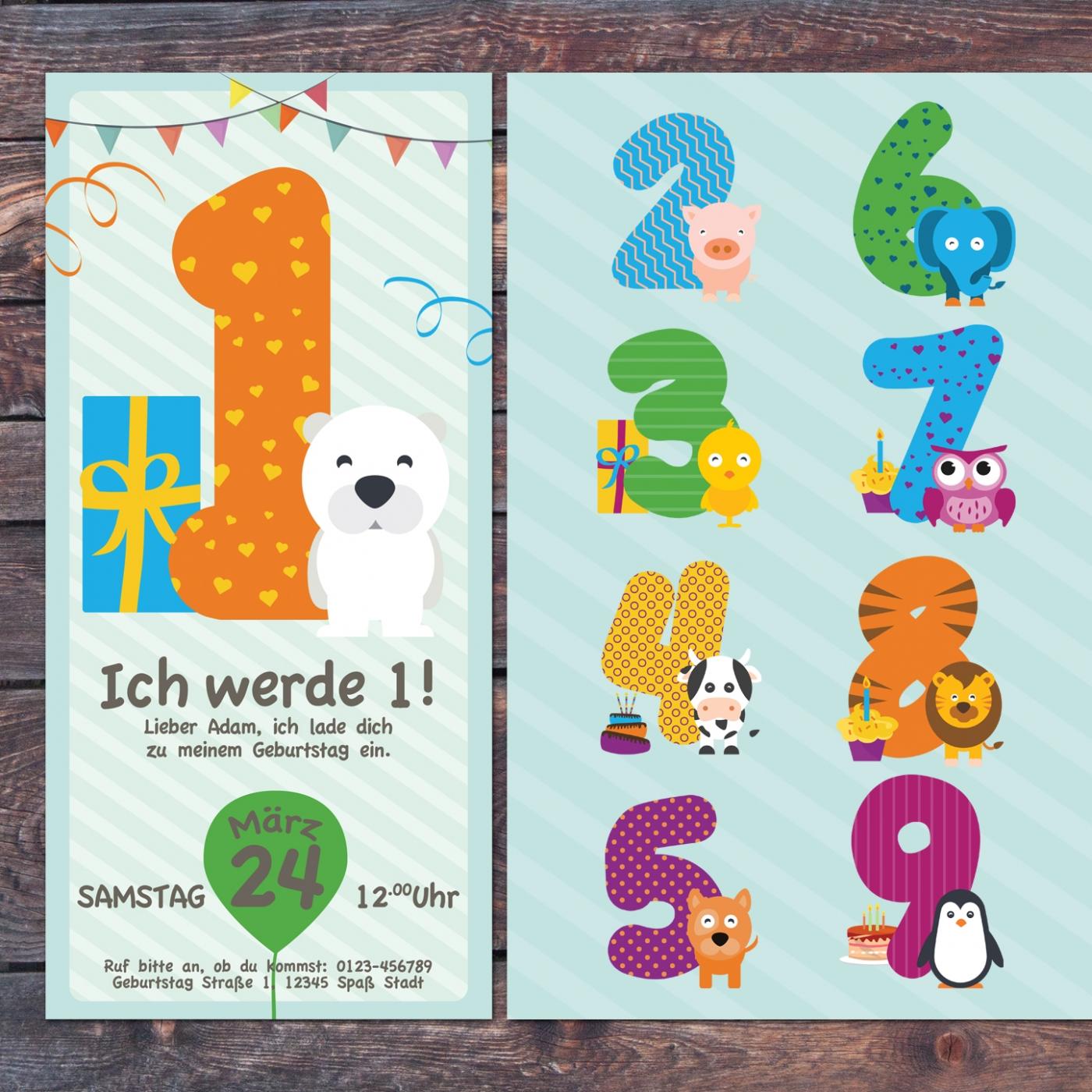 einladungskarte kindergeburtstag druck - eigenbaudesign