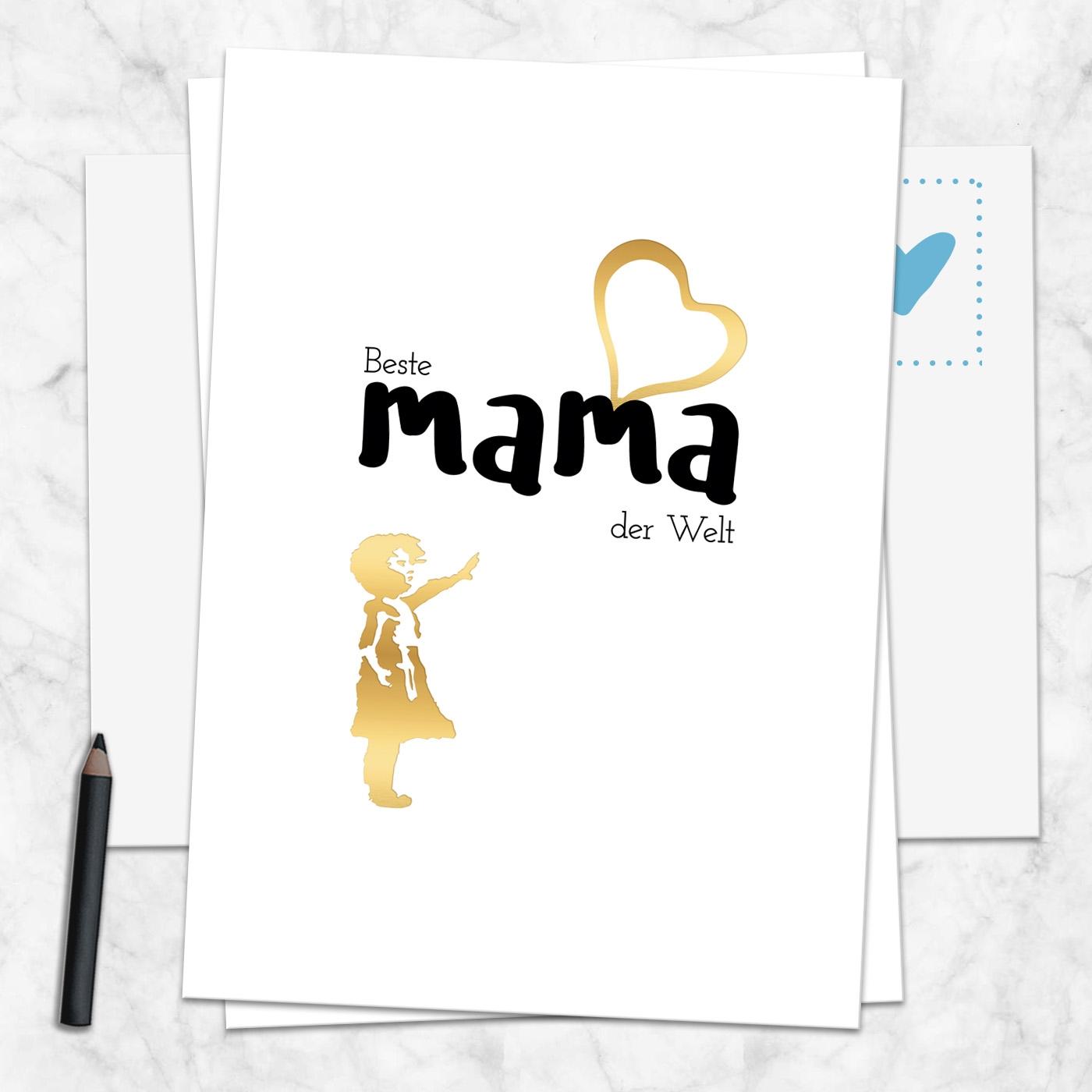Postkarte Beste Mama der Welt