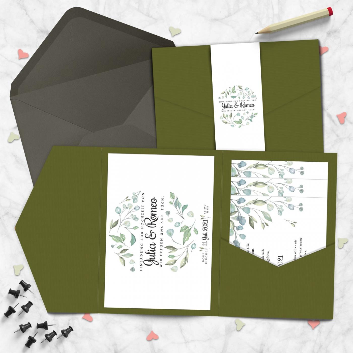 Pocketfold Karte Hochzeitsmomente