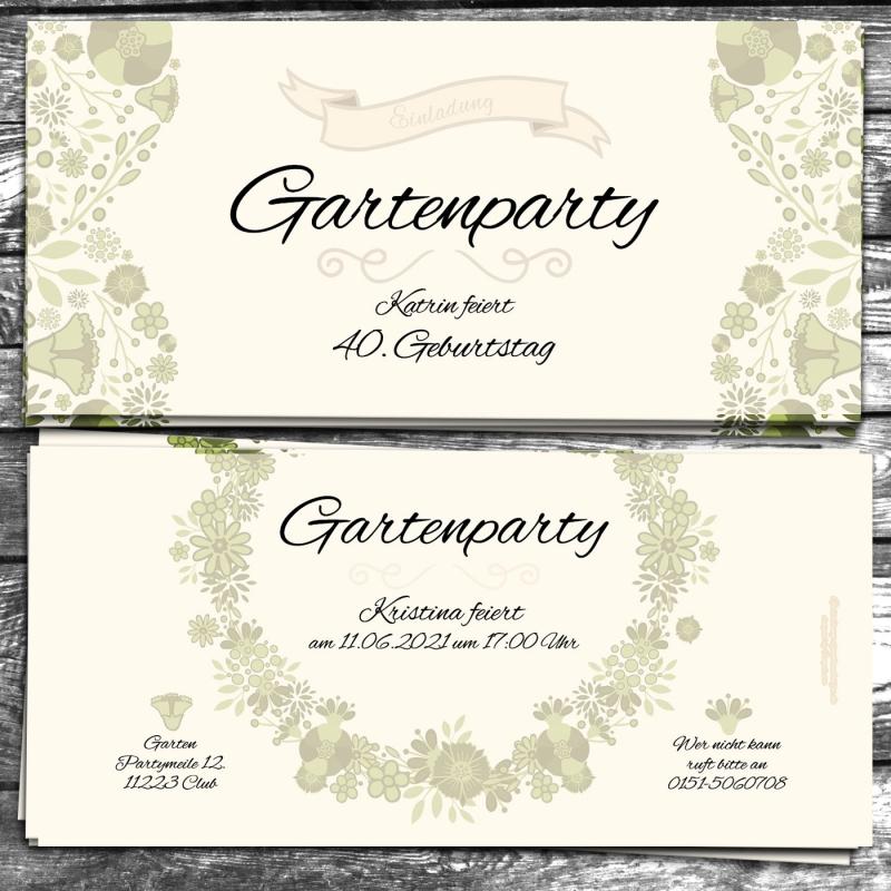Einladungskarte Gartenparty
