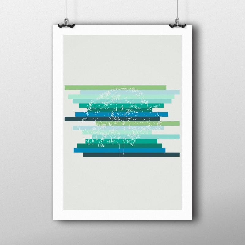 Kunstdruck Der abstrakte Baum
