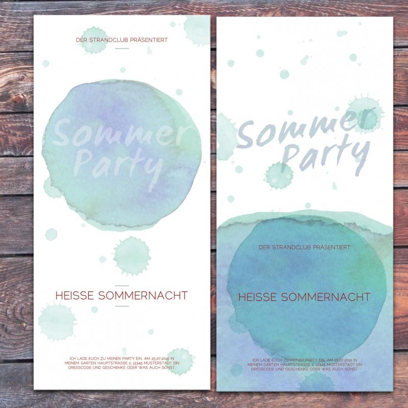 Einladungskarte Sommerparty
