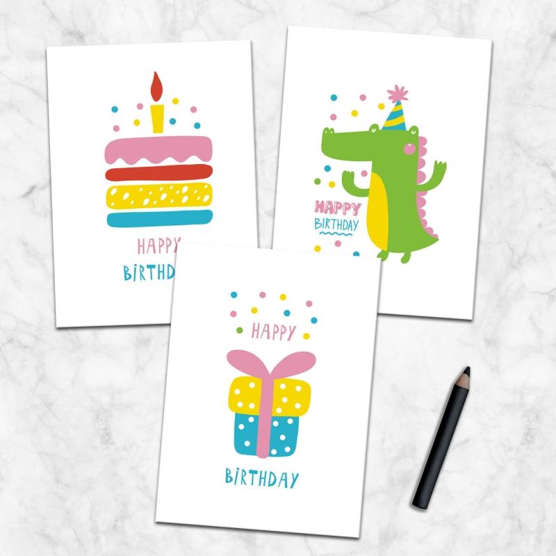 Geburtstagskarten 4er Set