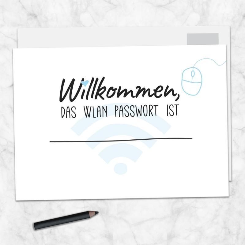 Postkarte WLAN Passwort