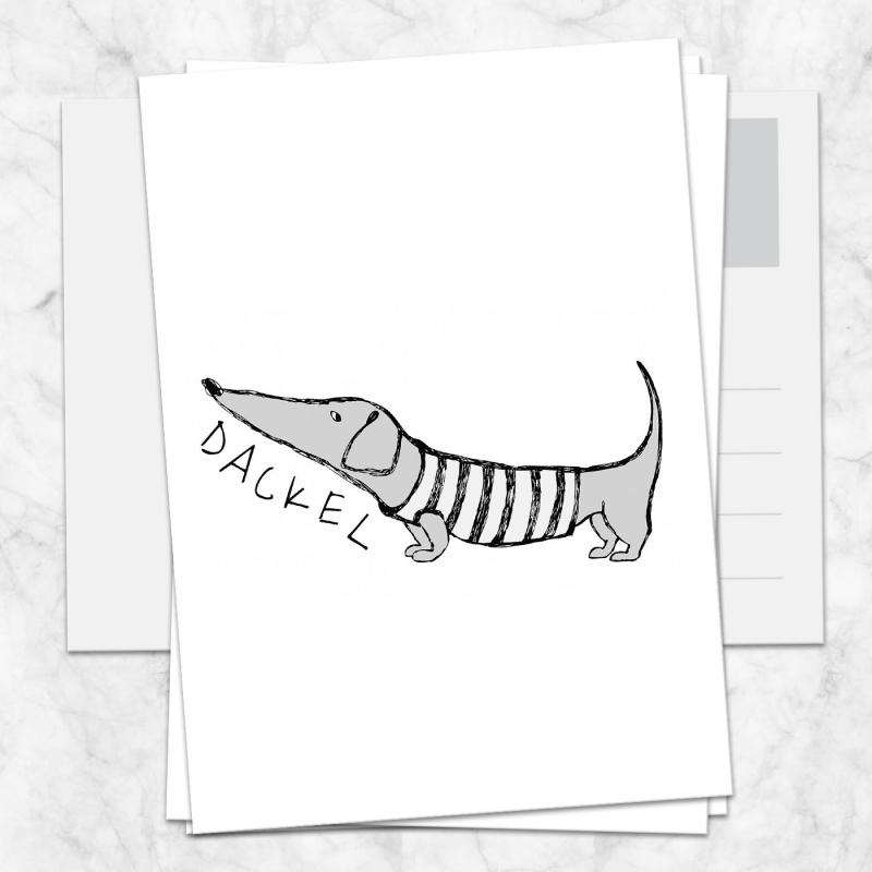 Postkarte Dackel