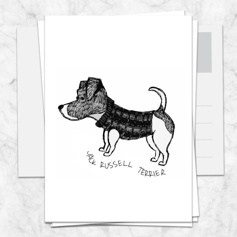 Postkarte Jack Russell Terrier
