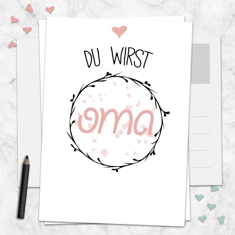 Postkarte Du wirst Oma