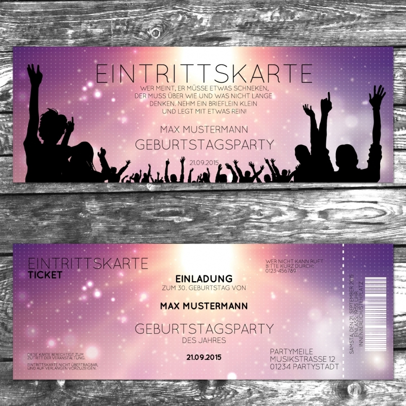 Einladungskarte Party