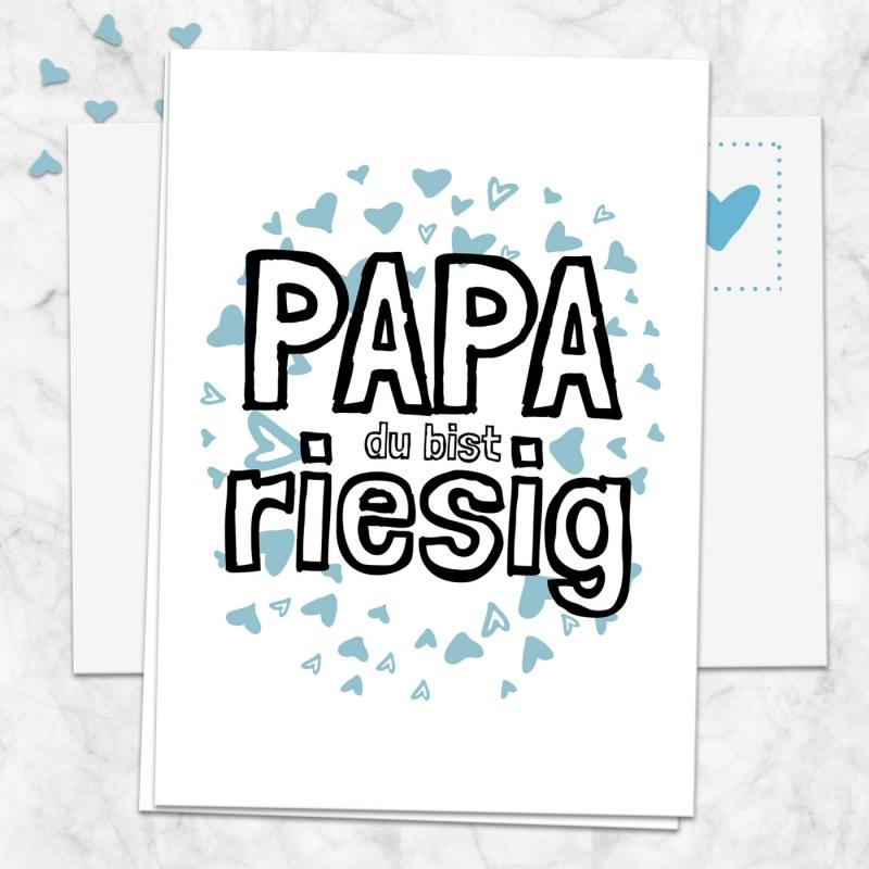 Postkarte Papa du bist riesig