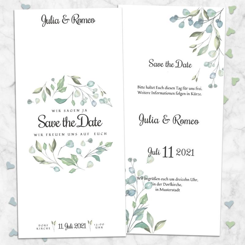 Save the Date Karte Hochzeitsmomente
