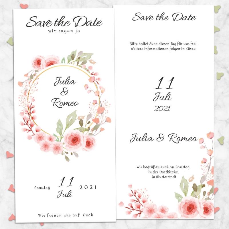 Save the Date Karte Hochzeitsglück