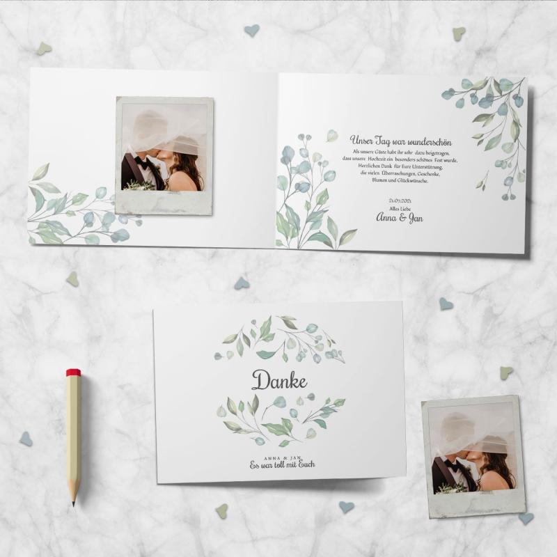 Dankeskarte Hochzeitsmomente