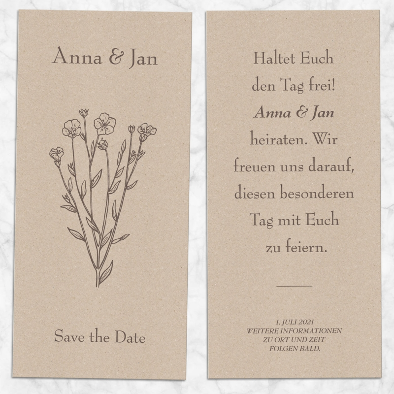 Save the Date Karte floral