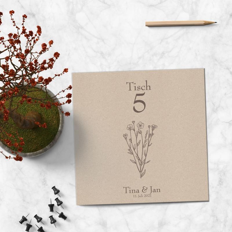 Tischkarte floral