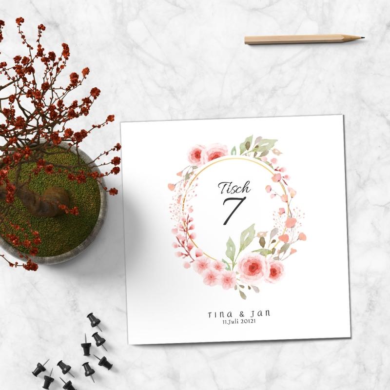 Tischkarte Hochzeitsglück