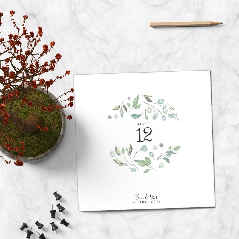Tischkarte Hochzeitsmomente