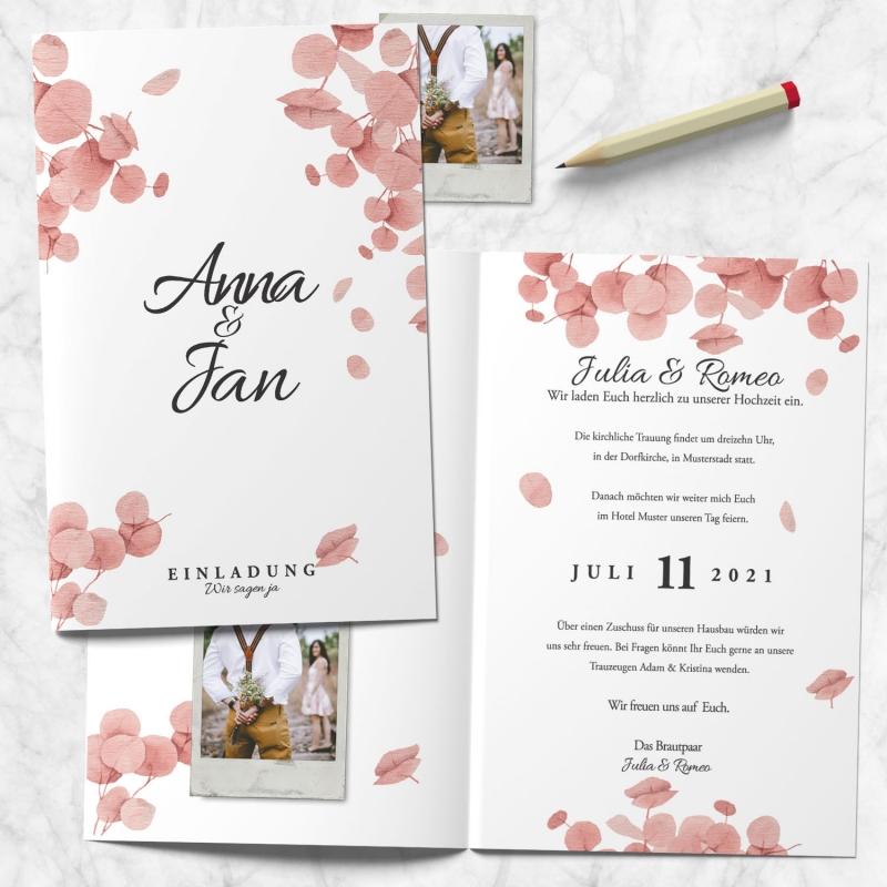 Einladungskarte Hochzeitspapeterie
