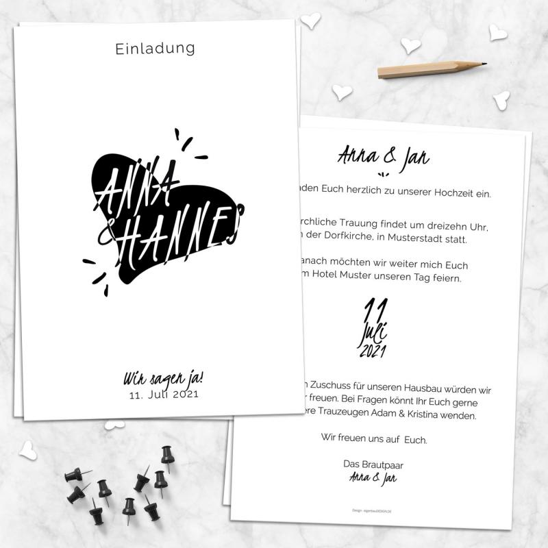 Einladungskarte narrativ